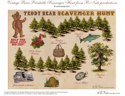 thanksgiving treasure hunt bnute productions free printable teddy bear scavenger hunt game