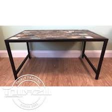 coffee table with iron base old painted teak coffee table with iron base fairtrade gifts from