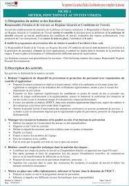 risques professionnels bureau fiche 4 metier fonctions et activites vise es pdf