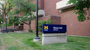 University Of Michigan Parking Map by Weiser Hall Campus Map Campus Information