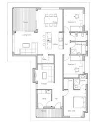 Narrow Modern House Plans Affordable Home With Simple Lines And Shapes Three Bedrooms