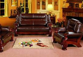 Leather And Wood Sofa Decor Of Wood And Leather Sofa Traditional Leather Sofa With Show