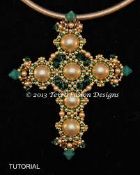 bead cross pendant necklace images 256 best beaded cross images beaded cross seed jpg