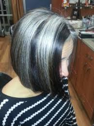 hairstyles with grey streaks twelve bob cuts or bob hairstyle ideas haircolor is gorge