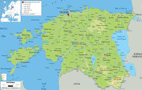 Estonia On The World Map by Physical Map Of Estonia And Estonia Physical Map