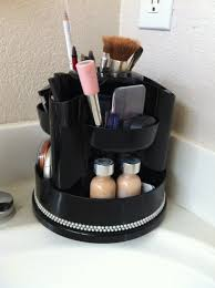 rotating desk organizer used for everyday makeup 10 at office