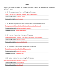 hypothesis worksheet answers by stariya science pinterest