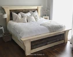 Coastal Bed Frame Farmhouse Bed Cottage Bed Coastal Bed White Wash Bed Farm Bed