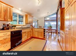 custom made cabinets for kitchen new solid wood acacia kitchen custom stock photo 434498344