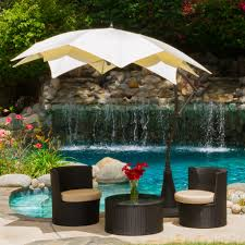 Wall Mounted Shade Umbrella by Furniture Tan Cantilever Patio Umbrella With Black Stand For