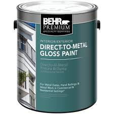 Behr Paint Colors Interior Home Depot Behr Premium 1 Gal White Gloss Direct To Metal Interior Exterior