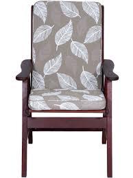 Patio Chair Cushions Amazon by Aqua Seat Pad Chair Cushionoutdoor High Back Cushion In Carmody