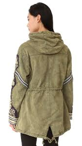 Free People Parka Free People Embellished Parka Moss Women Clothing Jackets