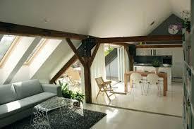 dachwohnung einrichten bilder dachwohnung einrichten küchennische esstisch sofa dekorativer