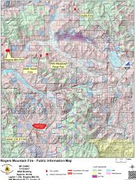 Map Montana Wildfire Roundup For July 12 2017 Mtpr