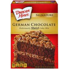 duncan hines signature cake mix german chocolate 16 5 oz