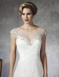 wedding dress necklines beautiful illusion neckline wedding dresses sang maestro