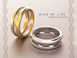 matching bands set dna wedding rings geek wedding ring