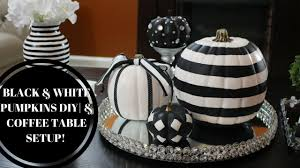 fall black u0026 white pumpkins coffee table setup youtube