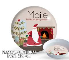 personalized melamine platter personalized santa plate christmas plate set personalized