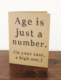 60th birthday sayings age is just a number card birthday card by lissaloostationery