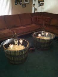 whiskey barrel side table coffee table whiskey barrel coffee table jack daniels tables
