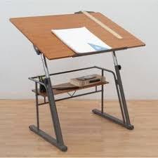 Studio Designs Drafting Tables Studio Design Pewter Teak Zenith Drafting Table By Studio Designs