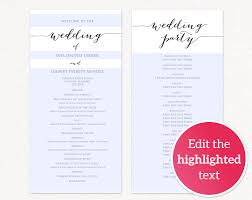 diy wedding program template wedding program templates wedding templates and printables