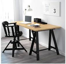 bureau avec treteau bureau treteau scandinave