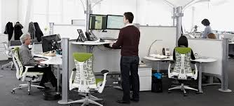 using a sit stand desk sit stand office desk top interior furniture