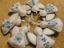 karácsonyi dekoráció angyal felt christmas ornaments angel