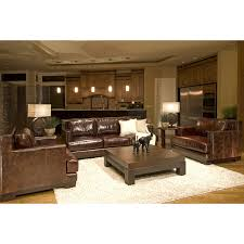 Top Grain Leather Living Room Set Emerson 3 Top Grain Leather Collection In Saddle Including 1