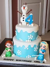 frozen childhood anna elsa birthday cake cakes