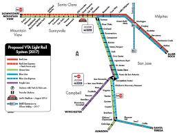 san jose light rail map vta light rail map f94 in stunning collection with vta light rail
