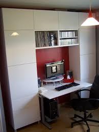 bibliothèque avec bureau intégré bureau biblioth que ikea realisations clients gamme besta 55