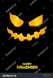 halloween scary illuminated face dark vector stock vector