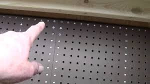 Pegboard Rear Workbench Pegboard Installed In Shed 4 8 14 Youtube