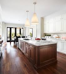 parisian kitchen with silver pendants kitchen contemporary and