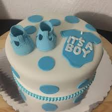 baby boy cakes for baby shower it s a boy simple and economic baby shower cake for a baby boy