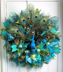 peacock decor for home peacock deco mesh peacock wreath peacock feathers peacock