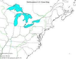 map of northeast us states with capitals blank map of northeast states blank northeast region outline map