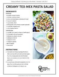 creamy tex mex pasta salad oac