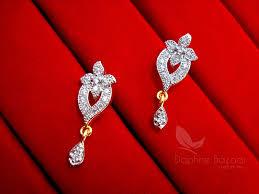 wedding bracelet gift images Ms13e daphne zircon studded designer earrings for women wedding jpg