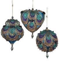 kurt adler peacock ornament saks peacocks