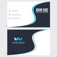 Business Card Design Psd File Free Download Business Card With Blue Wavy Lines Psd File Free Download