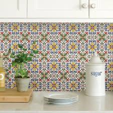 multi color tuscan tile peel stick backsplash tiles nh2365