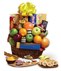 candy gift basket orchard fresh fruit and snacks gift basket at from you flowers
