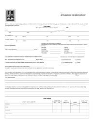 supermarket and grocery job application form 25 free templates