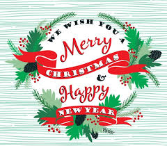 wishing you all a merry and a happy new year clearcut