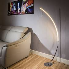 Curved Floor Lamp Beautiful Modern Polished Chrome Led Curved Floor Lamp Dimable